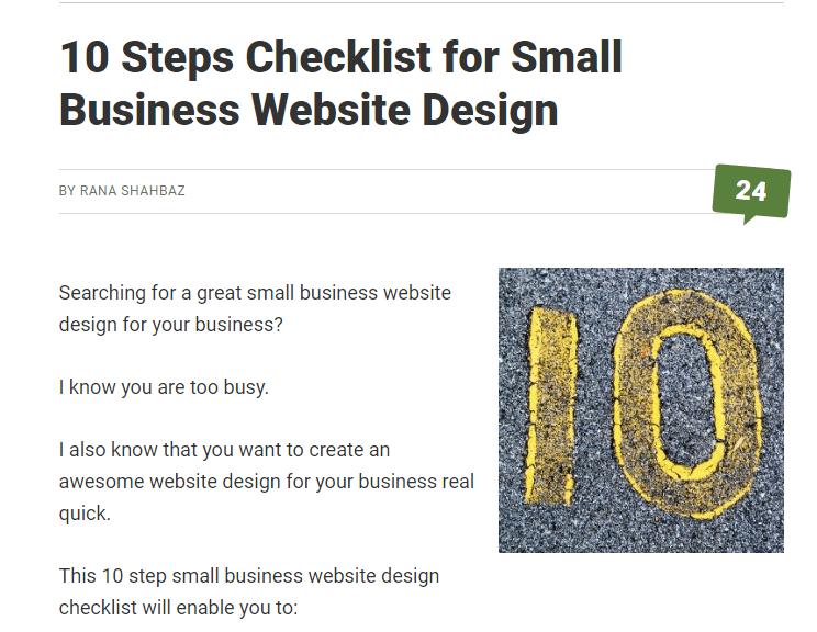 Checklist- Example