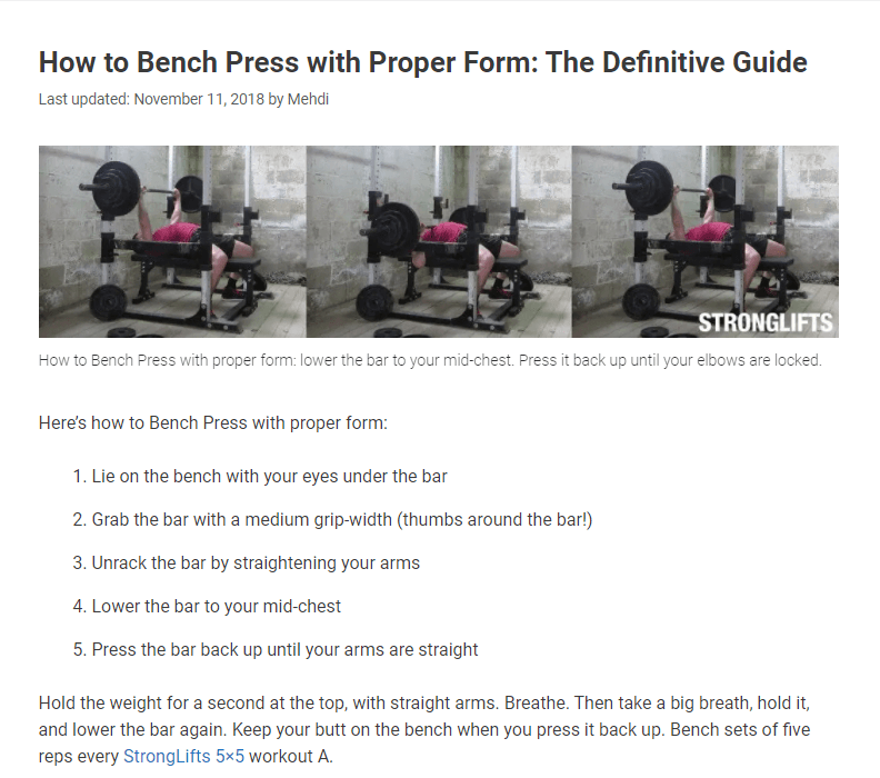 Step by step guide-Example