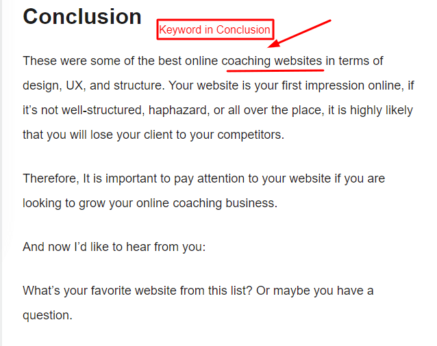 Conclusion paragraph-Example