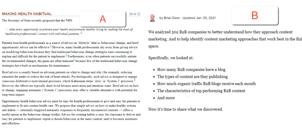 content formatting before publishing a post