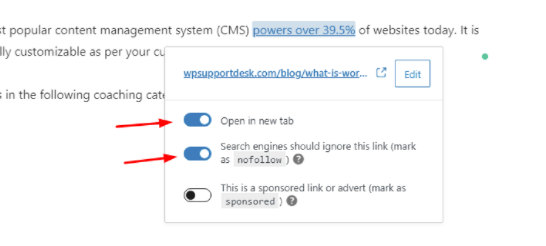 Open in new tab- Example