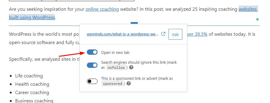Open in new window-Example